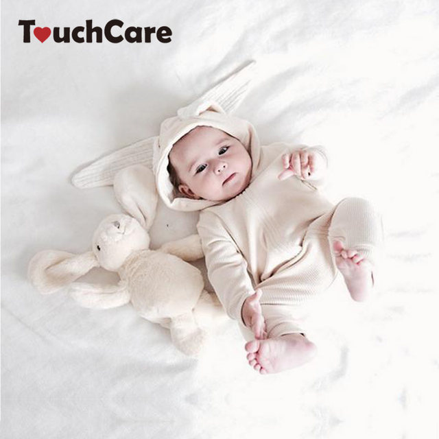 d5031b05418 Baby Bunny Romper Newborn Long Sleeve Bunny Costume Infant Rabbit Ears  Jumpsuit Toddler Cute Rabbit Ear Hooded Baby Rompers