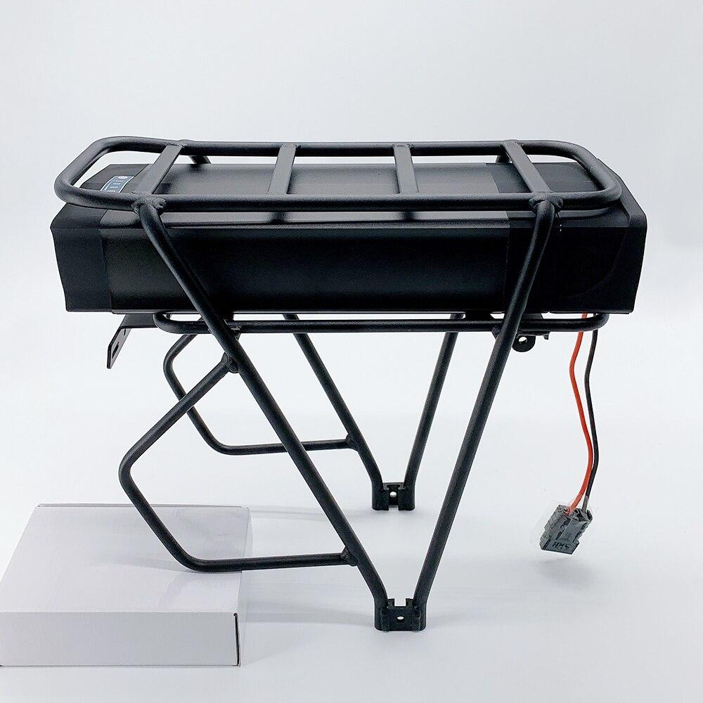 48 V 20Ah 1500 W 40A BMS Bicicleta elétrica com Bateria De Lítio carregador de Bateria Rack Traseiro para eBike + Duplo camada Bagageiro