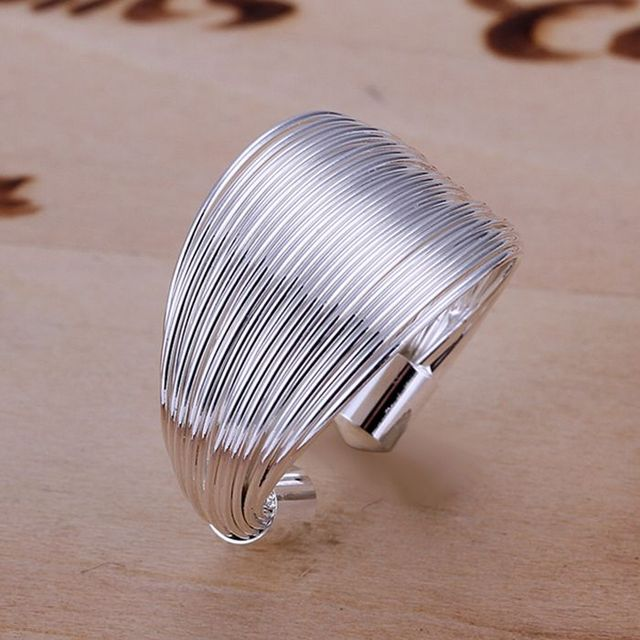 Free Shipping 2015 Lovely silver ring Multi-line anel Personalized SMTR018