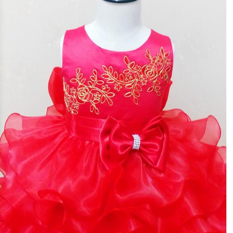 04ce60916b5 Red baby girl communion ruffle maxi dress rose belle dress organic Bowknot  christmas Detachable Summer vestido de festa infantil-in Dresses from  Mother ...