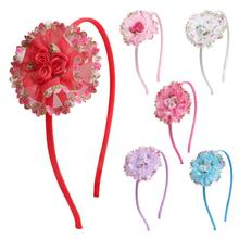 2019 Girl Headdress Sequins Fish Scales Flower Headband Cute Heart Hair Accessories WomenS Fashion Jewelry