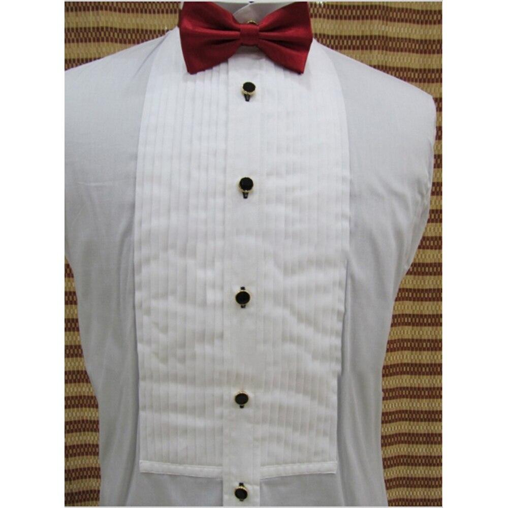 Wykonane na zamówienie 100% bawełna biały smokingi koszula, dostosowane koszule, na zamówienie biały stajennych koszule męskie, dostosowane koszulki na ślub w Koszule do smokingu od Odzież męska na  Grupa 1