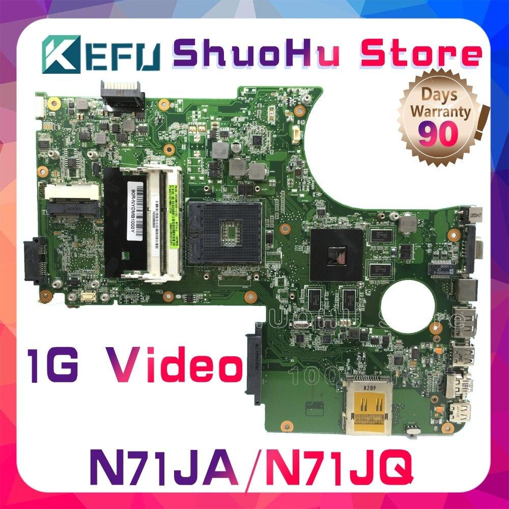 KEFU для ASUS N71JA n71jq N71J REV 2,1 Материнская плата для ноутбука протестированы 100% работу оригинальная материнская плата