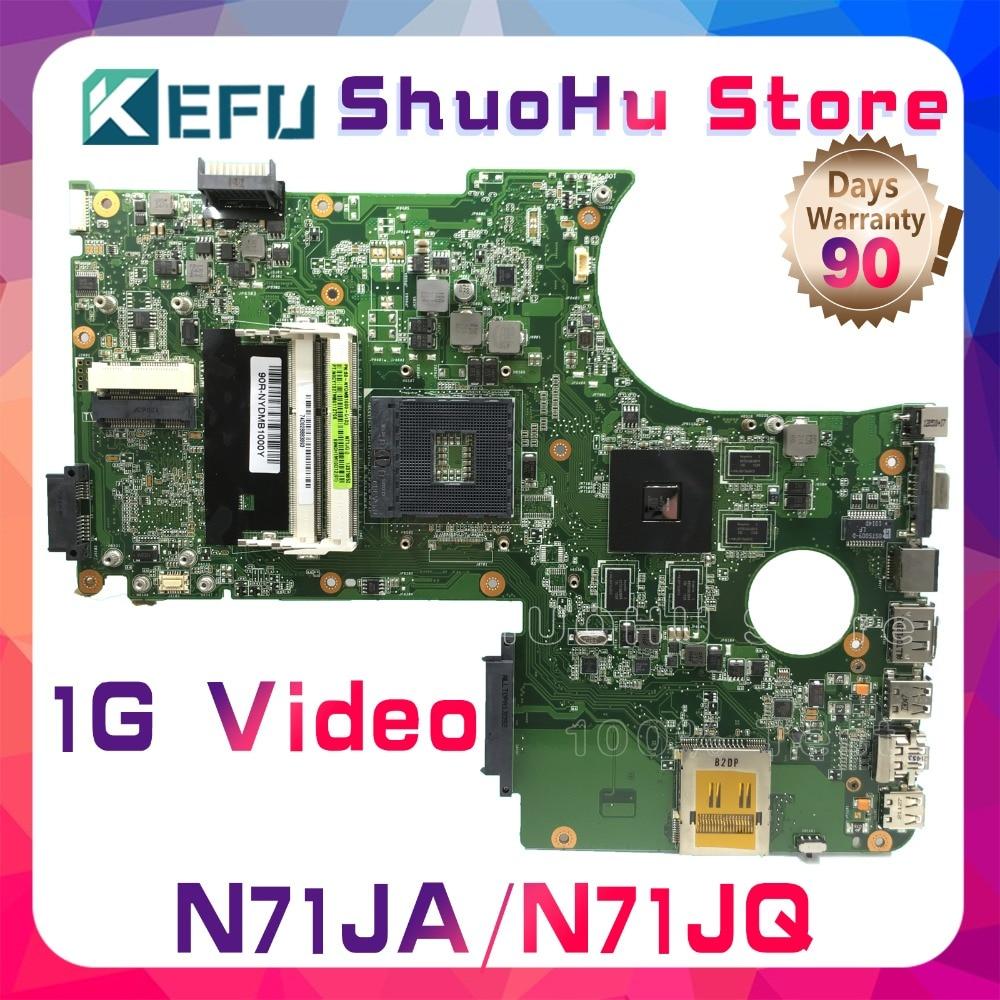 KEFU For ASUS N71JA N71JQ N71J REV 2.1 Laptop Motherboard Tested 100% Work Original Mainboard