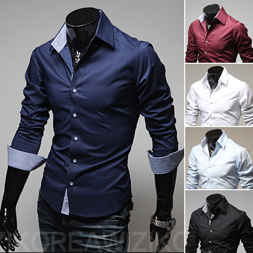New Solid Mens Shirt Casual Shirt Slim Fit Formal Shirt Social striped collar fashion Wedding shirts 9022 Plus Size 3XL ...
