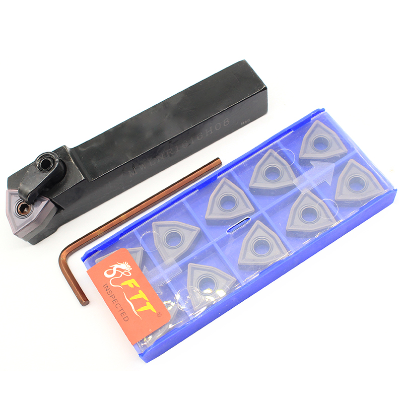 WNMG080408-MU <font><b>HP1025</b></font> 10PCS+1PCS MWLNR1616H08 carbide insert for CNC Lathe Turnning cutter holder turning tools holder image