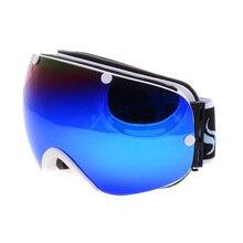 Marca snowboard gafas de doble capa anti-niebla de la lente máscara de visión ig motocross deportes de nieve en invierno A Prueba de Viento de esquí gafas de esqui