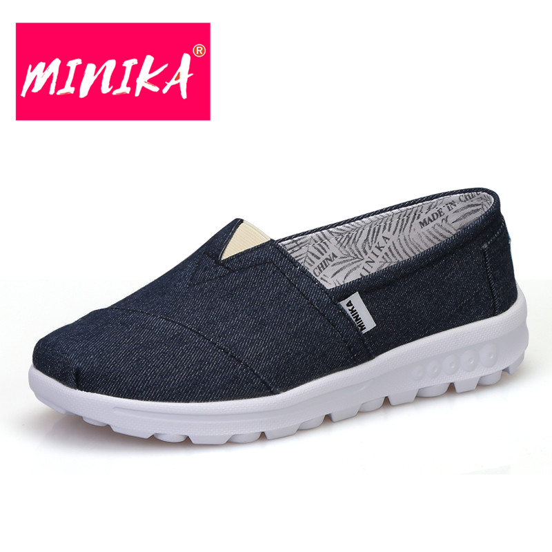 MINIKA New Arrival 2017 Flat Shoes Women Solid Colors Comfort Slip On Platform Shoes Women Soft Outsole Home Wear Casual Shoes minika new arrival 2017 casual shoes women multicolor optional comfortable women flat shoes fashion patchwork platform shoes