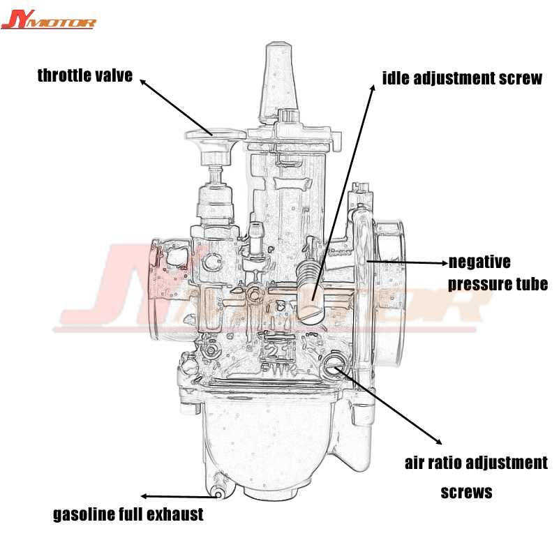 US $29 73 36% OFF|Quality 21 24 26 28 30 32 34mm Universal Mikuni Maikuni  PWK Carburetor Parts Scooters With Power Jet Motorcycle ATV-in Engines from