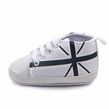 820c42c8a1350 TELOTUNY nouveau-né infantile bébé Union Jack drapeau impression toile anti- dérapant doux chaussures