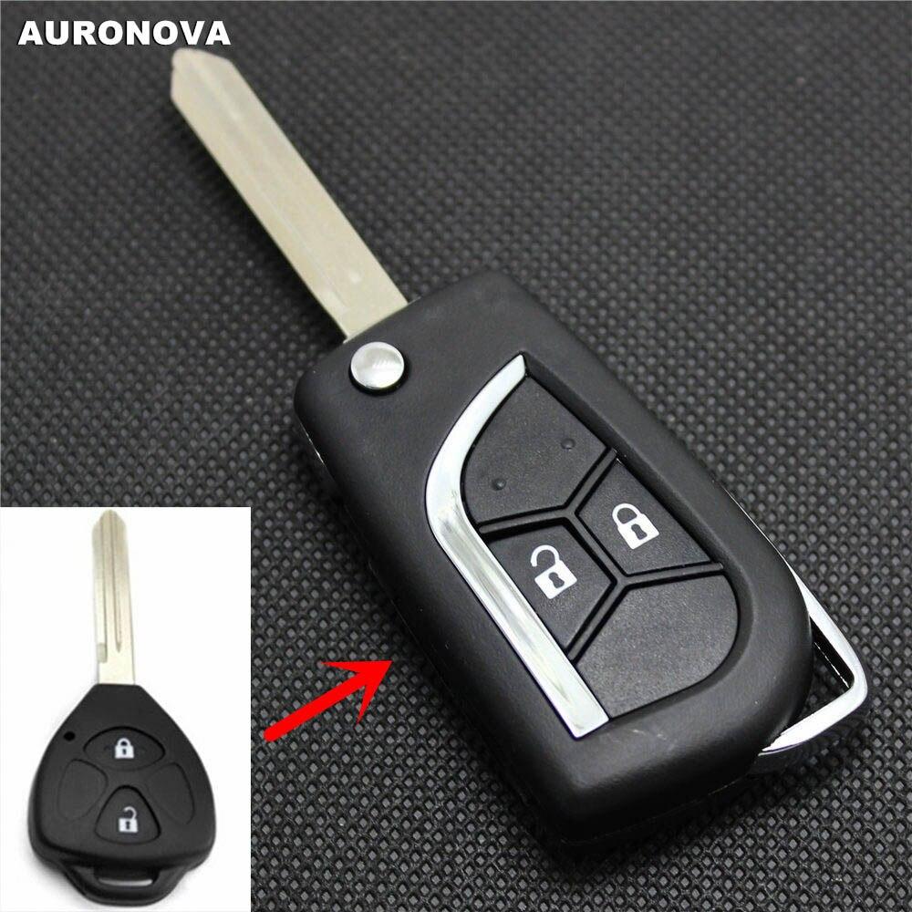 AURONOVA nueva actualización de carcasa de llave abatible plegable para JAC Tojoy RS J3 J6 2 botones modificado funda para mando a distancia del coche