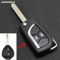 Auronova nova atualização flip dobrável chave escudo para jac tojoy rs j3 j6 2 botões modificado remoto caso chave do carro Chave de ativação     -