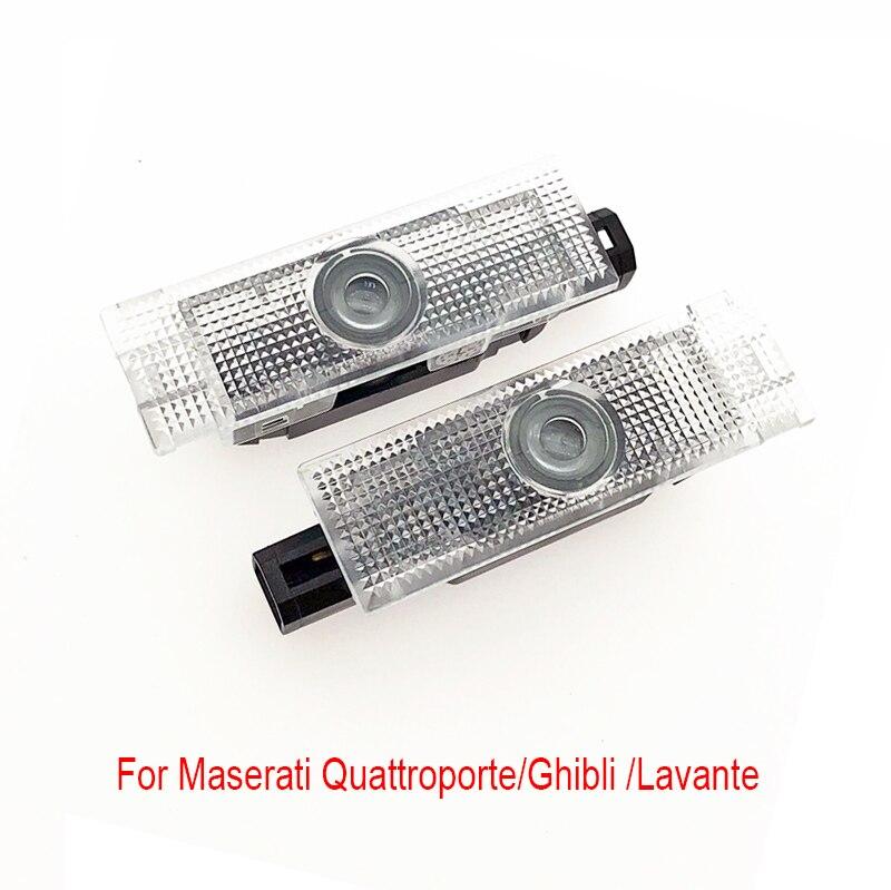 2 pièces fantôme ombre lumière bienvenue Logo Laser projecteur porte avertissement lumière pour Maserati Quattroporte 2009/Ghibli 2014/Lavante 2016