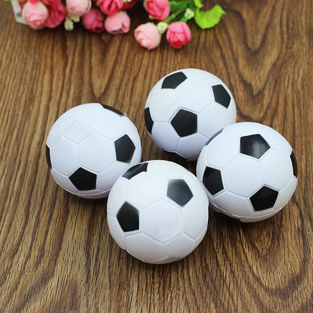 Squishy Football Jumbo Stress Stretch Doll Strap DIY Decor Soft Squeeze Slow Rising Simulation PU Soccer Kids Bauble Toys P20