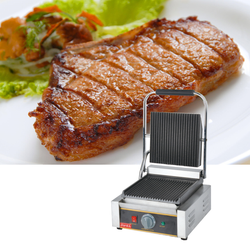 110V 220V 1800W Non-Stick Commercial Electric Contact Grill Steak Machine Single Plate Electric Griddle Grill Free Shipping110V 220V 1800W Non-Stick Commercial Electric Contact Grill Steak Machine Single Plate Electric Griddle Grill Free Shipping