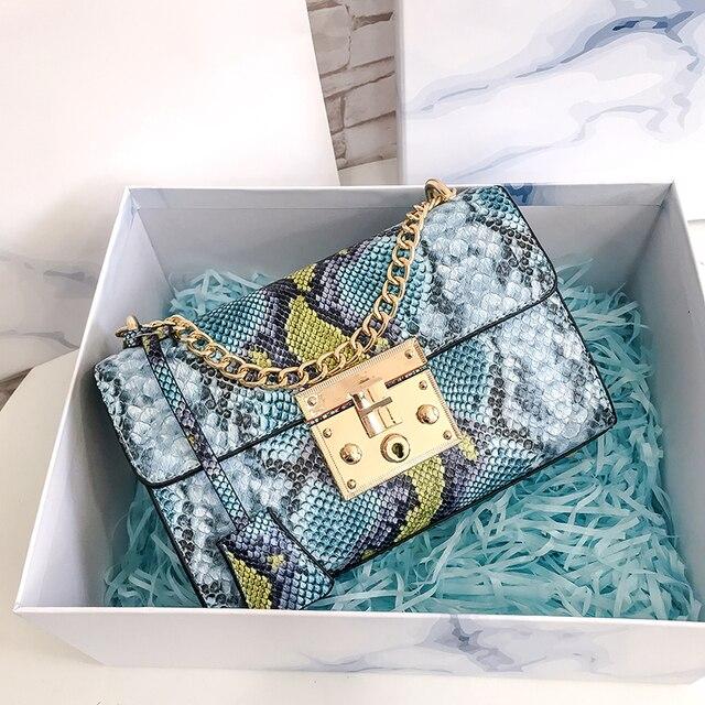 Snake Women Bag Pu Leather...