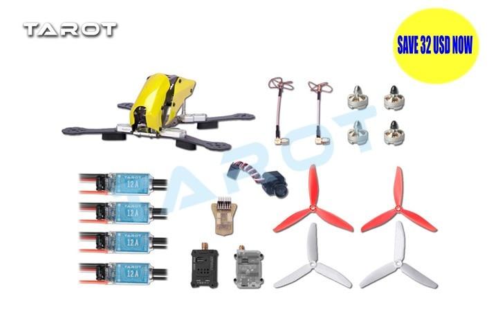 TAROT Mini 250 FPV Carbon Quadcopter fiber version Set TL250H TL250C contains electronic parts