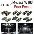 10 unids Error LED libre de La Lámpara Kit de Luz Interior Para Mercedes Mercedes-benz clase M W163 ML320 ML500 ML350 ML430 ML55 AMG 98-05