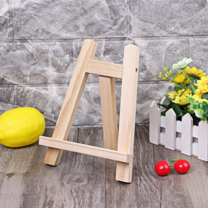 Mini Artist Wooden Easel Wood Stand Display Holder For Party Decoration 15*20cm Triange Easel Painting Supplies