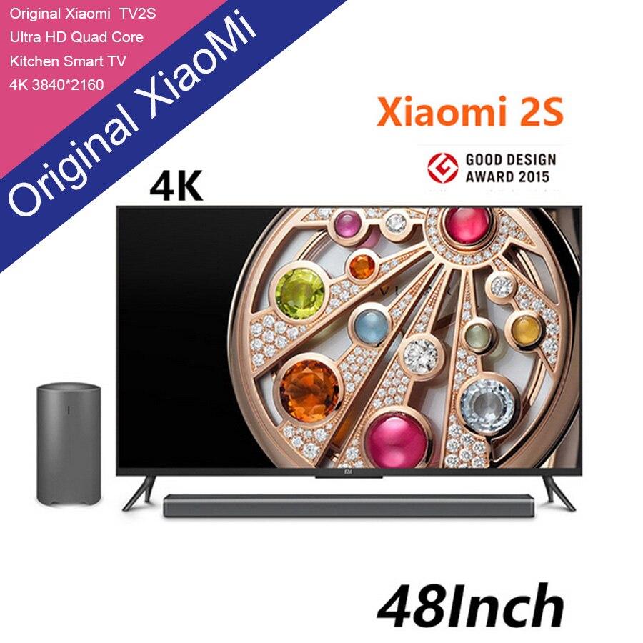 New Original Xiaomi TV 2S 48 Inches RGB 4K 3840*2160 Ultra Thin HD Quad Core 2GB Ram 8GB Rom Bluetooth 4.0 Household Smart  TV