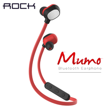 Rock Mumo bluetooth earphone Sport Running Gym Anti Sweat Bluetooth V4.0 Headset Earphones for iPhone 6 & 6 Plus & Samsung