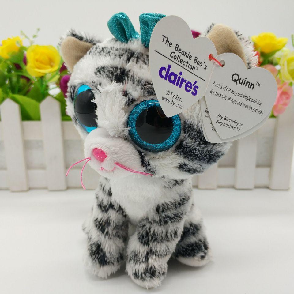 329b3332203 Quinn Cat TY BEANIE BOOS collection 1pc 15CM 6