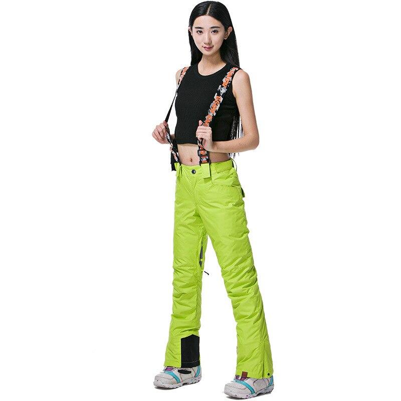 Pantalon de Ski de marque Gsou Snow femme pantalon de Snowboard imperméable pantalon de Ski respirant hiver Sport de plein air pantalon de Ski de montagne - 2
