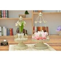 Fashion L Size Plum Bloss Candle Holder Iron Anti White Stand Wedding Decor New Year Gift
