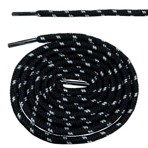 Круглые ботильоны без шнурков шнурки с точками 10 цветов 180 см/70,5 дюйма - Цвет: black and white