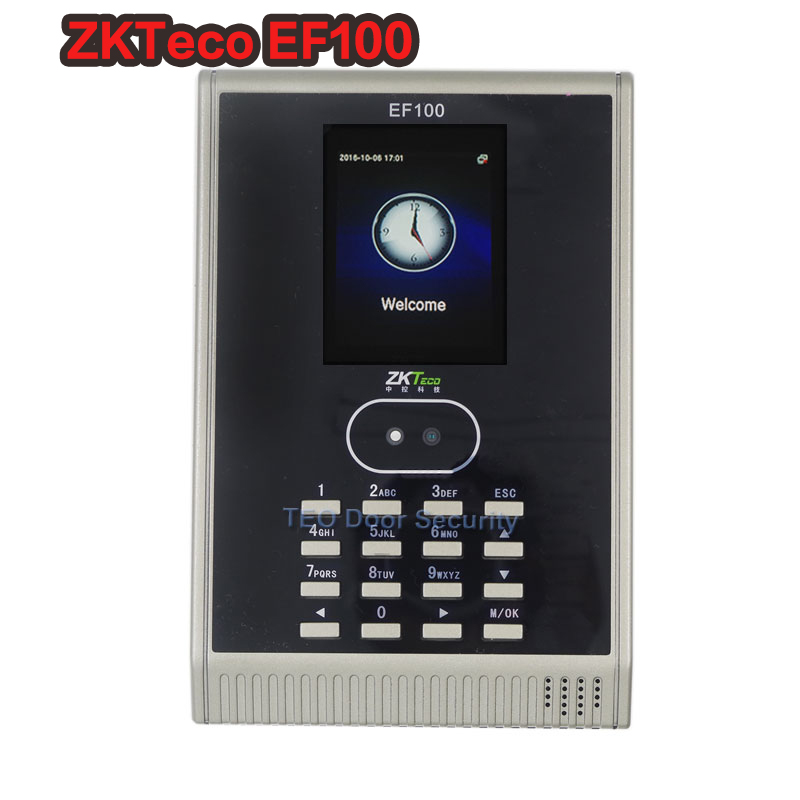 ZKTeco EF100 Face Recognition Attendance Machine Face Punch Printer Fingerprint Acces Control Face Biometric Attendance System