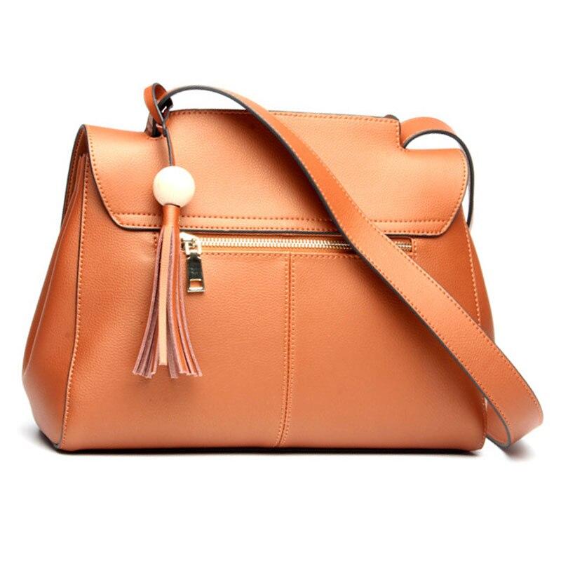 mulheres bolsas das senhoras populares Material Principal : Couro Genuíno