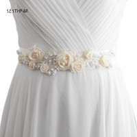 FREE SHIPPING S323 I Beaded Flowers Wedding Belts Wedding Sashes Pearls Bridal Belts Bridal Sashes Fast