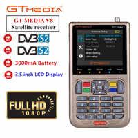 GT MEDIA /Freesat V8 Finder HD DVB-S2 Digital Satellite Finder High Definition Sat Finder DVB S2 Satellite Meter Satfinder 1080P