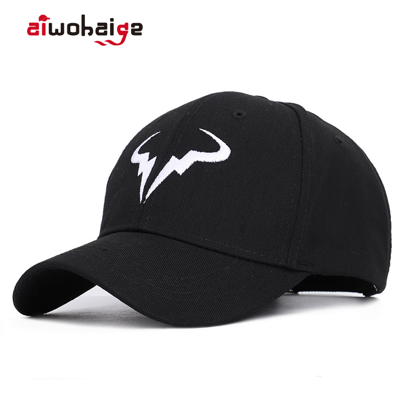 2019 New fashion Rafael Nadal   Baseball     Cap   Tennis Player No Structure Dad Hat Men Women adjustable Snapback   Caps   bone Embroidery