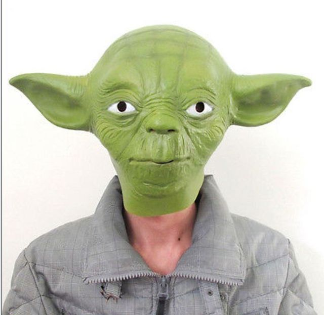 Erwachsene Grosse Star Wars Jedi Yoda Deluxe Overhead Halloween