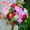 Luz manojo rosa Artificial de Seda de Flores Rosas Ramo de Novia ramo de Flores Ramillete de Boda DIY bainise