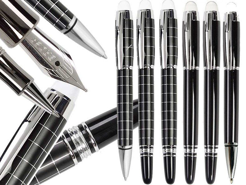Gel Rollerball Pen Starwalker Classic Charcoal Checked Or Black BAOER 79 Office And School Signature Pens