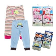 Купить с кэшбэком 5pcs/pack 0-2 years PP pants trousers Baby clothes Infant cartoon for boys girls Elastic 100% cotton soft Clothing