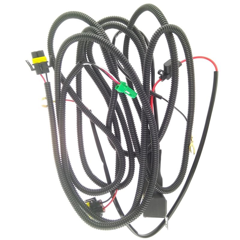 Beler H11 12 V Harnais câblage sockets Fils connecteur + 2 Brouillard lampe lumières