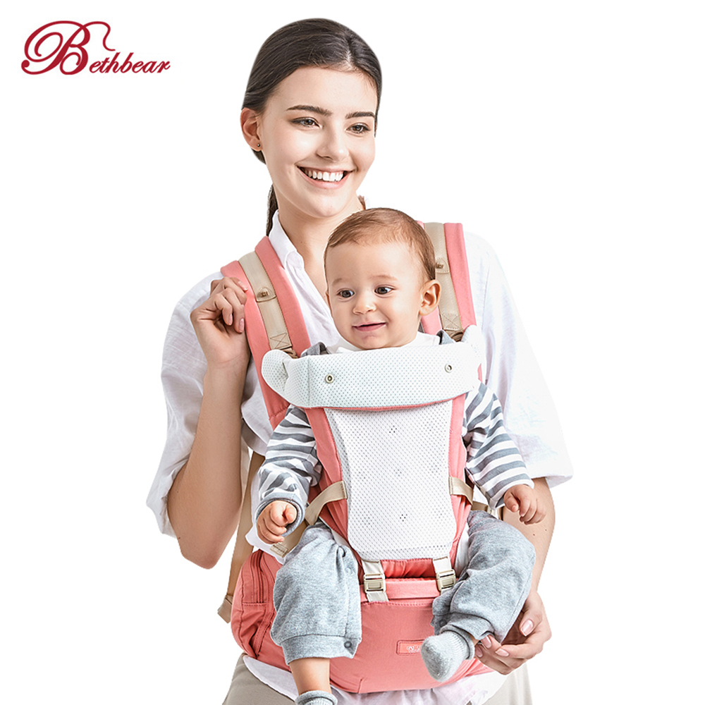 Original Bethbear Hipseat Newborn 4 In 1 Ergonomic Cotton Baby Carrier Kid Sling Backpack For 0-36 Months Baby