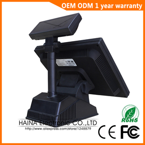 Image 4 - Haina Touch 15 inch Touch Screen Wifi POS System Epos with Customer display