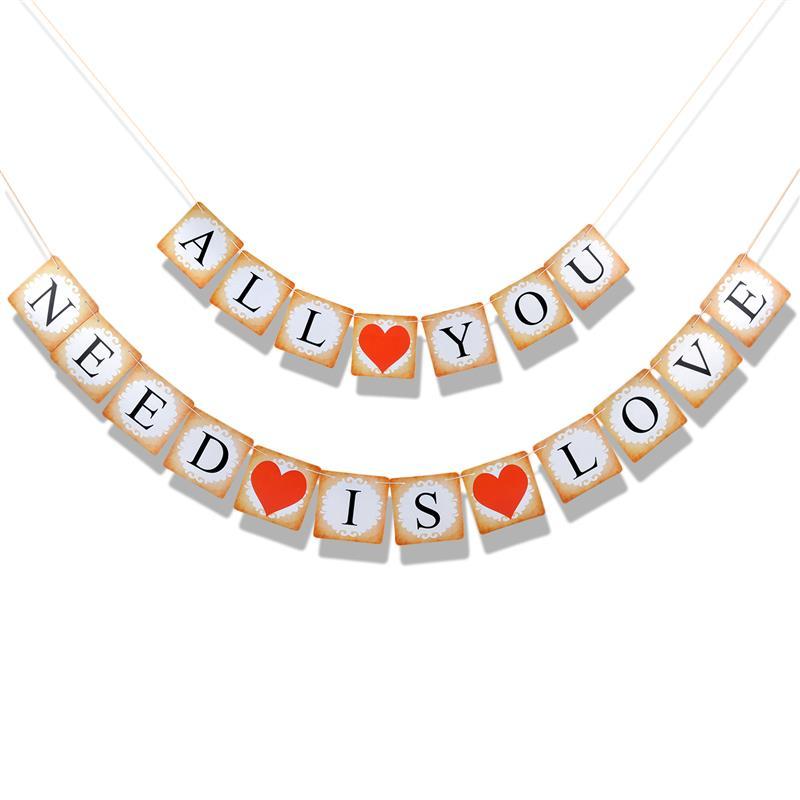 FunPa романтические вечерние баннер Sweet Heart I Love You письмо знак висит баннер Бумага Декор баннер на День святого Валентина предложить