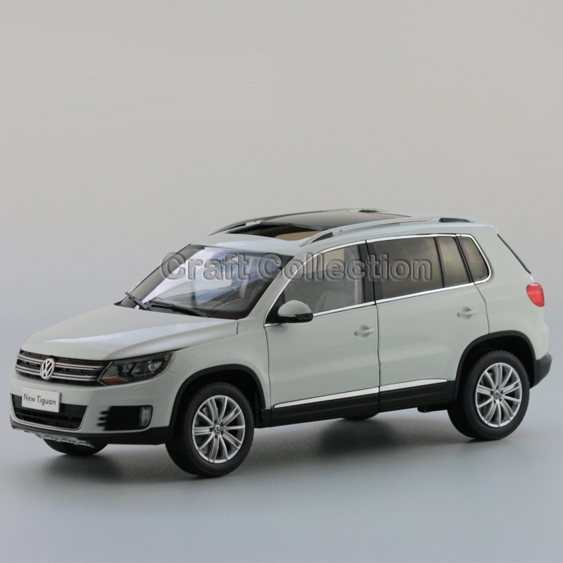 *White 1:18 Volkswagen VW Tiguan 2013 Diecast Model Car Classical SUV Collection Off Road Vehicle car rear trunk security shield cargo cover for volkswagen vw tiguan 2016 2017 2018 high qualit black beige auto accessories
