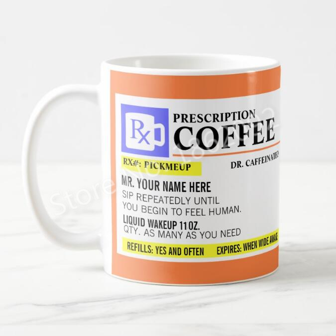 Novelty funny Prescription Creative 11oz Mug 9Off Custom Coffee Mugs Name Ceramic 64 Cups Us13 Gifts In Personalised Travel bgY7fy6