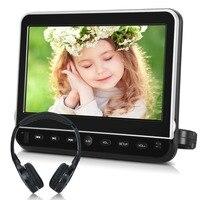 Тыковка 10,1 дюймов Автомобильный подголовник монитор dvd плеер USB/SD/HDMI/FM/игра TFT ЖК экран сенсорная кнопка поддержка беспроводных наушников
