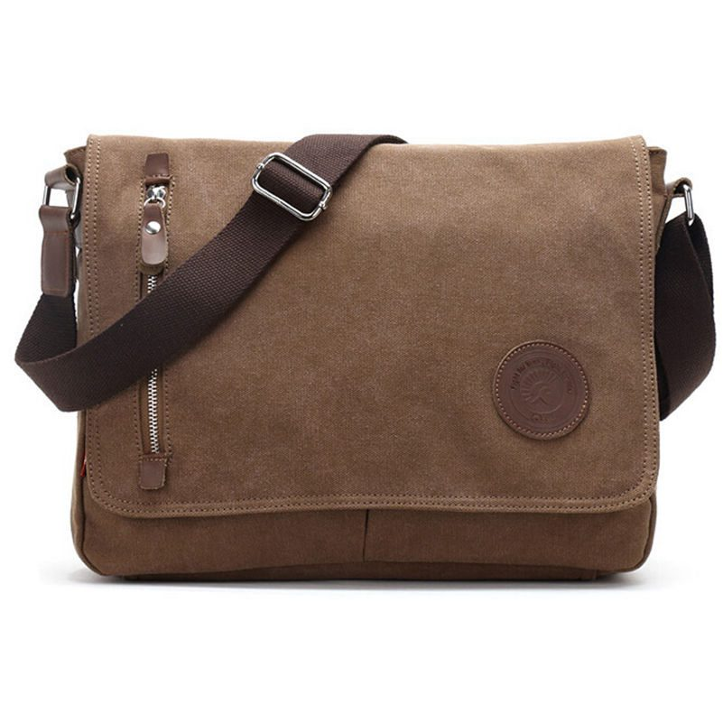 2016 New Fashion Men Messenger Bags High Quality Canvas Hand Bag Should Bags Cover Zipper School Handbag Size:37*29*8 cm aosbos fashion portable insulated canvas lunch bag thermal food picnic lunch bags for women kids men cooler lunch box bag tote