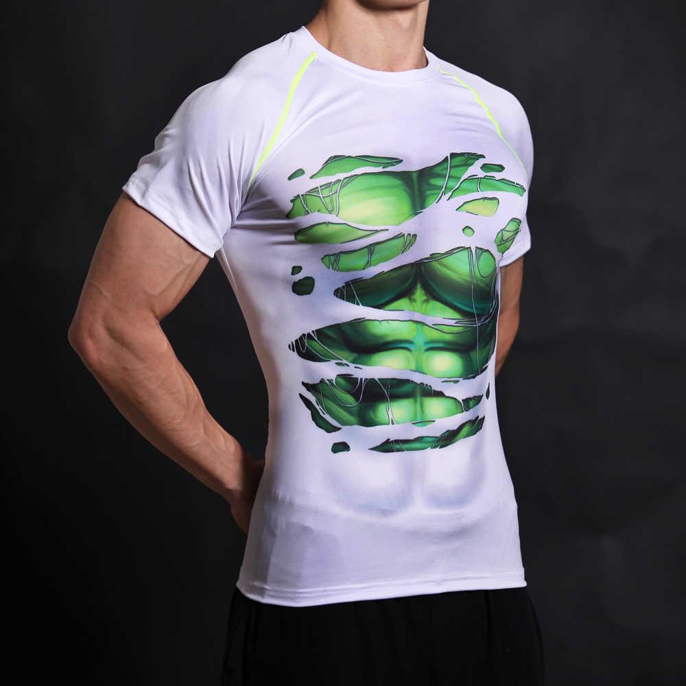 Camiseta con estampado 3D del Capitán América escudo de la guerra Civil, camisetas para hombre Los vengadores de Marvel 3 Hulk, ropa deportiva para hombre