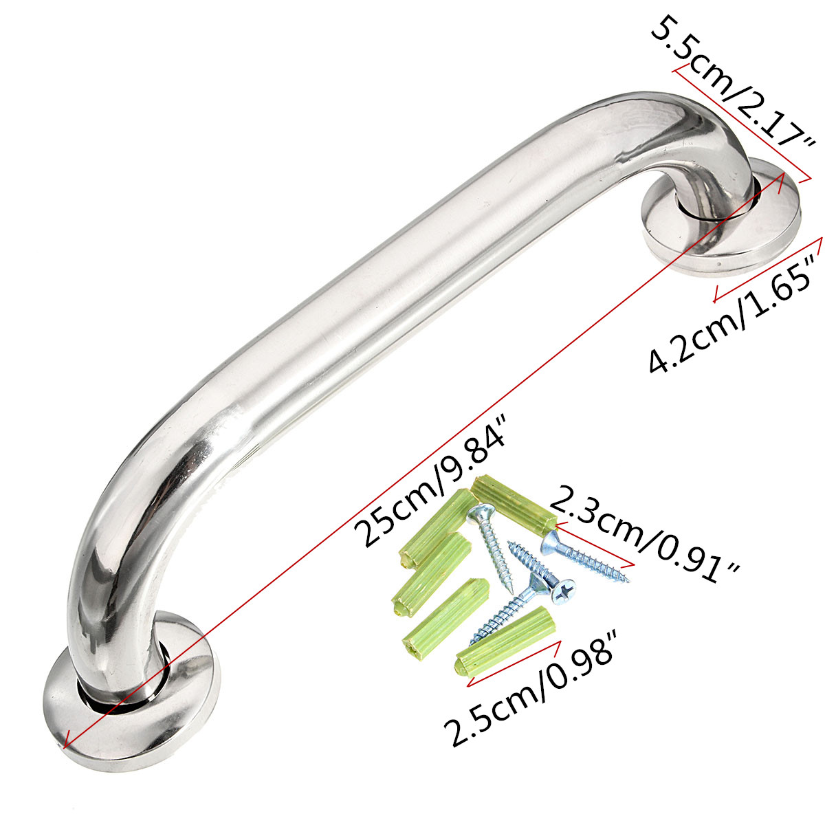 Bathroom Shower Tub Grab Bars Hand Grip Stainless Steel Safety ...