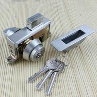 free shipping glass door box lock security lock House Ornamentation Door Hardware Lock stainless steel lock