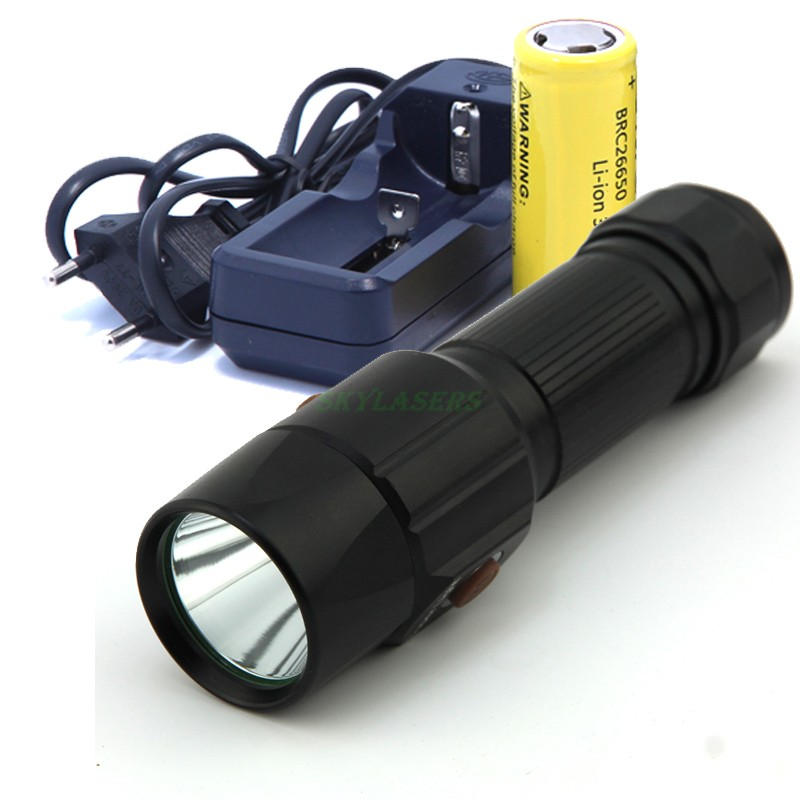 New 2300 Lumens Super Bright Light Cree Led Flashlight Torch Lamp antern For camping With 26650 Rechargeable Battery and Charger 18led cree t6 led flashlight outdoor camping light lamp 20000 lumens waterproof super bright flashlight torch 1200m distance